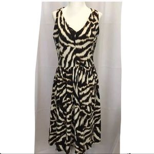 Ann Taylor Animal Print Sleeveless Dress SZ 8